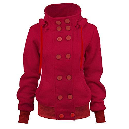 Dorical Rollkragenpullover Damen Rot Schwarz Marine Zweireiher Oberteile Sweatshirt T-Shirt Hochwertige Elegante Modische Einfarbiger Pullover Kostüm für Frauen Günstige Kaufen Online Sale