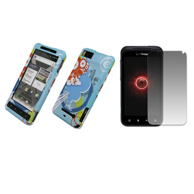 EMPIRE Urban Gummierte Design Harte Case Tasche Hülle Cover + Displayschutzfolie Film for Verizon Motorola Droid X2