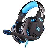 R4mpage RP-6210 Gaming Stereo Kopfhörer mit Mikrofon LED Beleuchtung über USB mit 3,5 mm Stecker schwarz/blau - gut und günstig