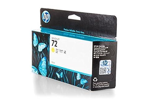 Original Tinte passend für HP DesignJet T 770 HP 72 , NO72 , Nr 72 C9373A - Premium Drucker-Patrone - Gelb - 130 ml