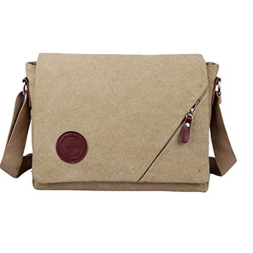Männer Segeltuchbeutel Diagonales Paket Im Freiensportfreizeit-Schulterbeutel Große Kapazität Multi-Tasche Brown1