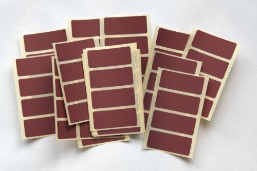 Etiquetas para códigos de color, autoadhesiva, 80unidades), color marrón