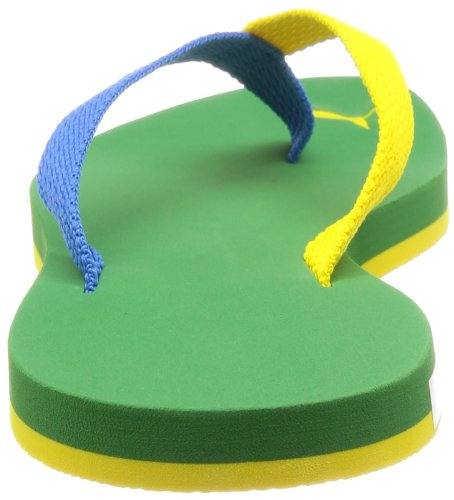 Puma Dedo II Brazil Men's Flip Flops (187268) Medium Green / French Blue / Vibrant Yellow