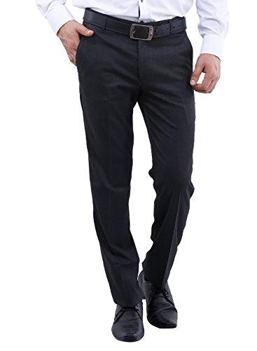 La MODE Formal Men's Light Grey Trouser (34, Dark Grey)