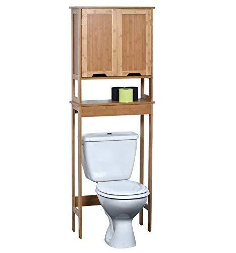 #Toilettenschrank – 2 Türen und 1 Ablage- exotischer Stil – aus BAMBUS#