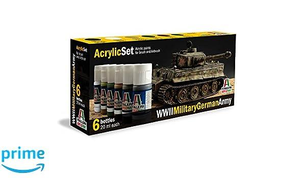 Italeri 510000433 Acrylique Set Wwii Military German Army Amazon