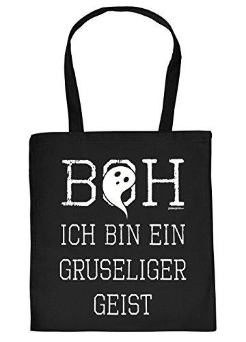 Stofftasche/Einkaustasche/Spaß-Motiv-Tasche Thema Halloween: Boh ich bin ein gruseliger Geist - - Halloween Ich Geist