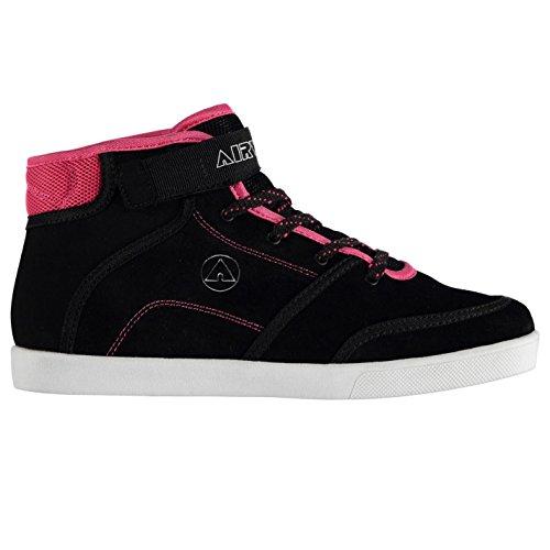 airwalk-malibu-mid-top-skate-zapatos-para-mujer-negro-rosa-zapatillas-zapatillas-calzado-negro-rosa-