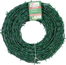 Stacheldraht, verzinkt, kunststoffummantelt, grün, Ø mm: 2,8, Länge m: 12,5