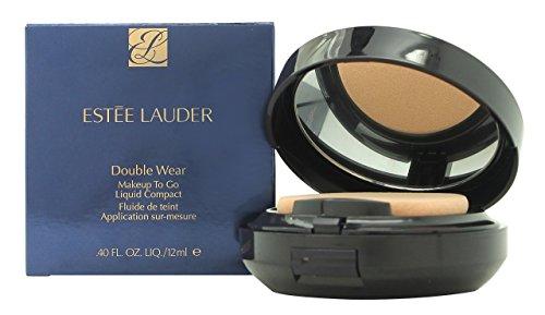 Estee Lauder Double Wear Makeup To Go Liquid Compact, fondotinta, 12 ml, numero 1W2, Sand - sabbia