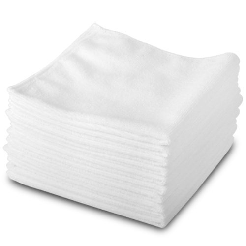 10 Pack of Genuine Exel White Lint Free Microfibre Exel Super Magic Cleaning Cloths For Polishing, Washing, Waxing And Dusting.