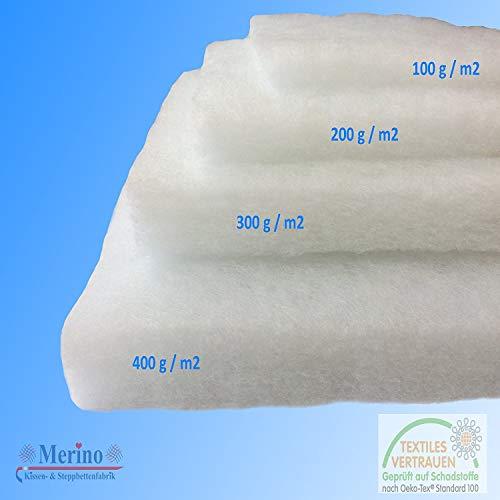 Merino-Betten Weicher und formstabiler Volumenvlies, Kissenfüllung, Polsterwatte, Kopfkissenfüllung in Verschiedenen Größen (400 g/m2 160cm Breit)