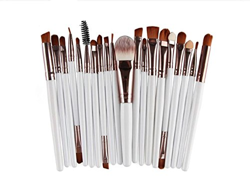 MELEE 20 Pieces Makeup Brush Set Professional Face Eye Shadow Eyeliner Foundation Blush Lip Makeup Brushes Powder Liquid Cream Cosmetics Blending Brush Tool