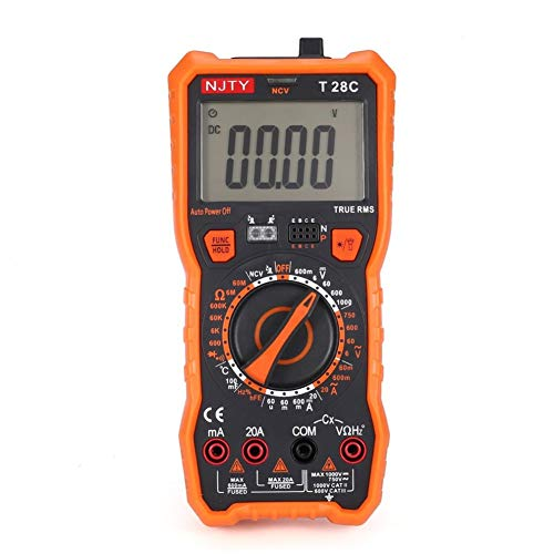 T28C Multímetro digital Medidor de corriente DC/CA Medidor Mini amperímetro Ohmio Probador de NCV Verdadero RMS 6000 cuentas de multitester