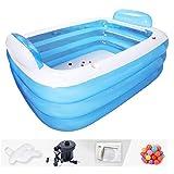 Zwemmen Opblaasbaar zwembad Zwembad Kinderbaden Hot Tub Nieuwe dubbele badkuip Drie lagen zijn niet bang voor druk Speciale verdikte volwassen isolatie Baby,180x140x60cm