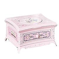 Honey MoMo Exquisite Music Box,Classical Rotating Girl Music Box, Jewelry Storage Box with Makeup Mirror Gifts