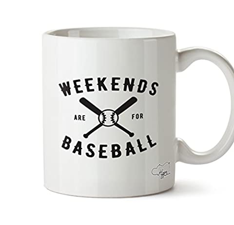 Hippowarehouse Week-ends sont pour tasse mug de baseball 283,5gram, Céramique, blanc, One Size (10oz)