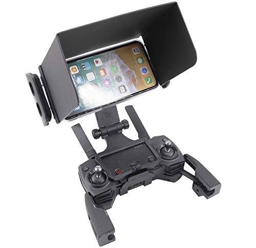 Support RC GearPro Sun Hood + Téléphone Support téléphone Mobile OLED de 5,8 Pouces Compatible pour DJI Mavic Pro/AIR/Spark, Mavic 2 Pro/Zoom, Drone Parrot Anafi et Autres Marques Drone