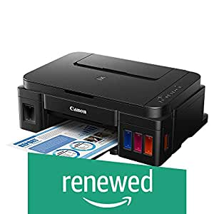 (Renewed) Canon Pixma G2000 All-in-One Ink Tank Colour Printer (Black)
