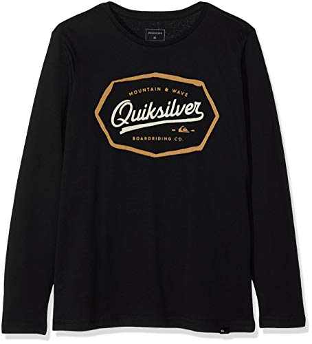 Quiksilver Living On the Edge T-Shirt Garçon Noir (Black KVJ0) 8 Ans (Taille Fabricant: XS/8)