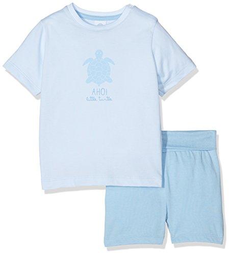 Sanetta Baby-Jungen Zweiteiliger Schlafanzug 221297, Blau (Ballad 5557), 92 (92)