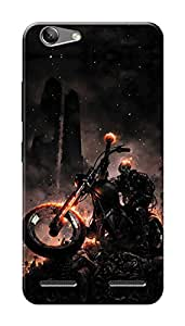 Lenovo Vibe K5 Black Hard Printed Case Cover by HACHI - Ghost Rider design