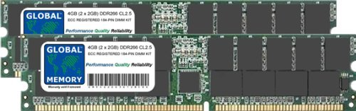 266 Mhz Kit (GLOBAL MEMORY 4 GB (2 x 2 GB) DDR 266 MHz PC2100 184-PIN ECC Registered DIMM (RDIMM) Arbeitsspeicher Kit für Servers/WORKSTATIONS/MAINBOARDS)