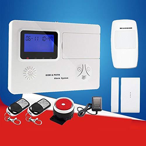 Motto.H 2G Sistema de Alarma inalámbrico para la Oficina en el hogar, Tarjeta SIM gsm Alarma contra Robo Sirena 120DB, con marcación automática, Aviso de Voz, Control Remoto y más Equipos