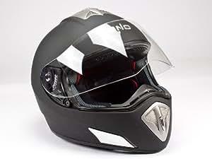 bno HF 180Noir mat Casque de moto, casque intégral, casque dans la taille L
