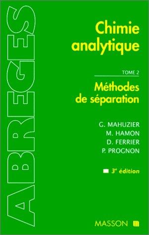 Mthodes de sparation: METHODES DE SEPARATION