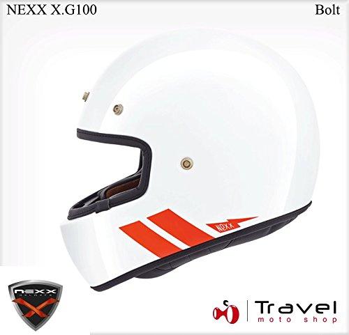 Preisvergleich Produktbild Motorrad Nexx XG100 Garage Bolt Helm – Weiß UK