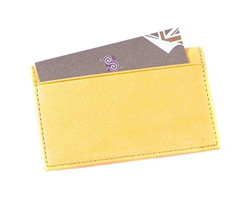 SAGEBROWN Yellow Pocket Card Holder