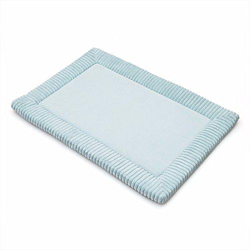 Die Tür zum Badezimmer Badezimmer Tür absorbierenden Matten wc Fußmatte rutschfeste Füße Teppich dick, 52 * 84 cm, Pulver blau (Pulver-blau-teppich)
