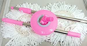 360 Rotating Magic Mop - Replacement Handle and 2 Mop Heads - Pink by Tripact Inc