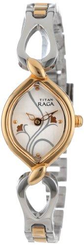 417Y5MyNuiL - Titan NE2455BM01 Raga Silver Women watch