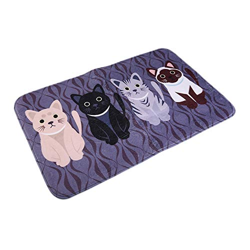 HarveyRudol85 Creative Kawaii Welcome-Fußmatten mit Tiermotiv und Katzenmotiv