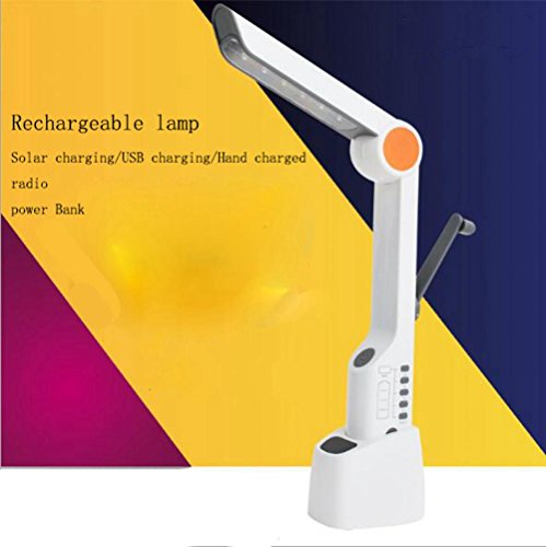 ZT USB Lade Schreibtischlampe Led-Multifunktions Schreibtischlampe Radio Solar Hand-Lade Lampe Kreative Klapp Außenleuchten