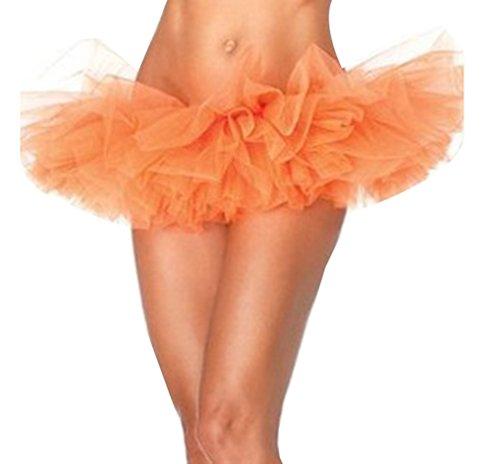 Donna Gonna in tulle Tutu Ballerina Ballo Balletto Gonna a tutù per danza Orange