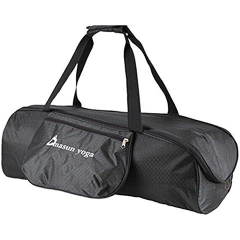 ZeleToile Bolsa para llevar esteras de yoga Bolsa para estrilla de juegos Bolsa de yoga Tenedor de alfombrillas Bolsa de transporte para artículos cilíndricos (negro)