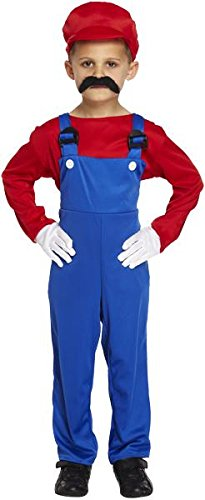 Super Workman Mario or Luigi Boys Costume - 4 to 12 years