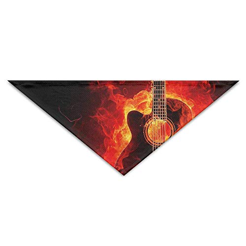 Wfispiy Dog's Fire-Guitar-Sparkle Scarf Personalized Nice Cute Dog Cat Bandana Triangle Neckerchief Bibs Scarfs Accessories for Pet Cats and Baby Puppies The Saliva Dog Towel