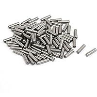sourcingmap Espigas sujetar Elementos 100uds 2,5mm x 10mm de Acero Inoxidable Cilindro