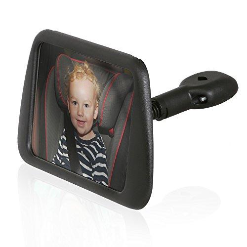 Wicked Chili Rücksitzspiegel für Babys im Reboard Kindersitz (Spiegel Größe: 140 x 88 mm, neigbar, schwenkbar, vibrationsfrei)