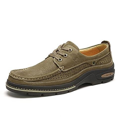 Camel Men's Leather Slip-On Loafer Color Khaki Size 39 M
