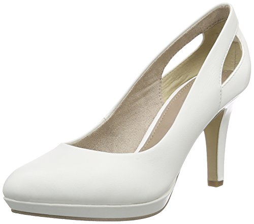 s.Oliver 22411, Damen Plateau Pumps, Weiß (WHITE 100), 39 EU (6 Damen UK)