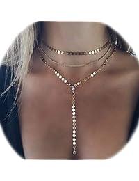 5cda51129dc7 Amazon.es  Mujer - Collares y colgantes   Bisutería barata  Joyería