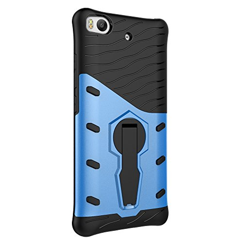 Für Xiaomi 5s Fall Neue Rüstung Tough Style Hybrid Dual Layer Rüstung Defender Soft TPU / PC Back Cover Fall Mit 360 ° Stand [Shockproof Case] ( Color : Blue ) Blue