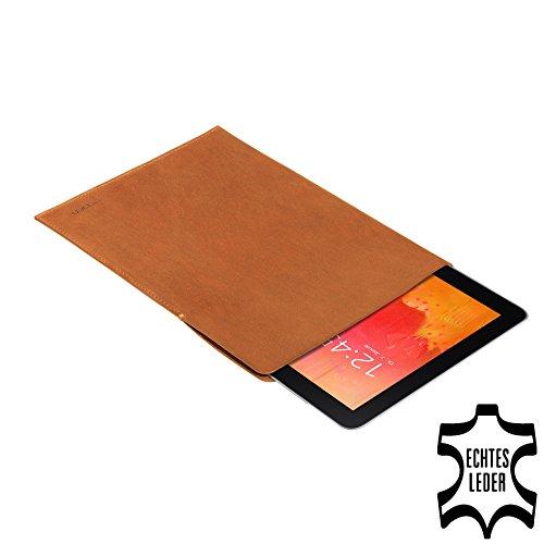 PEDEA Echtleder Tasche/Hülle für Samsung Galaxy Note Pro 12.2, Odys Winpad 12, cognac