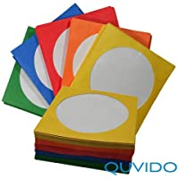 100 QUVIDO CD/DVD/Blu-ray Papierhüllen Color Mix