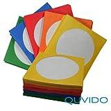 100 QUVIDO Enveloppes en papier pour CD/DVD/BD couleurs assorties